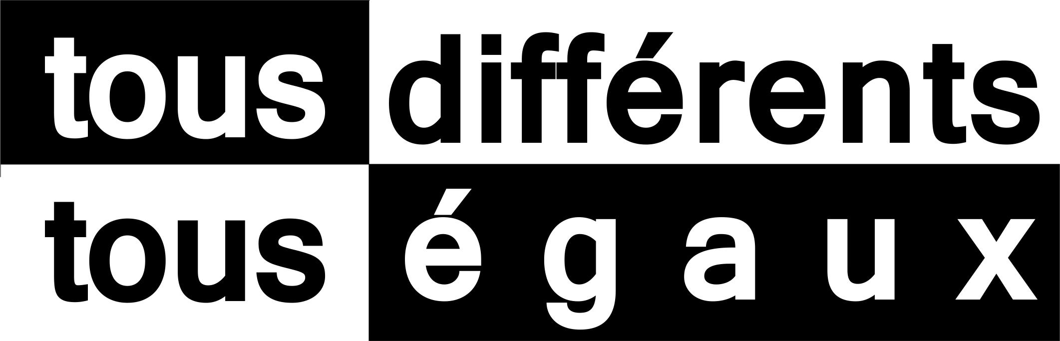 Logo tous différents tous égaux