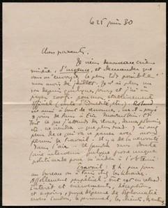 Lettre de Denis de Rougemont