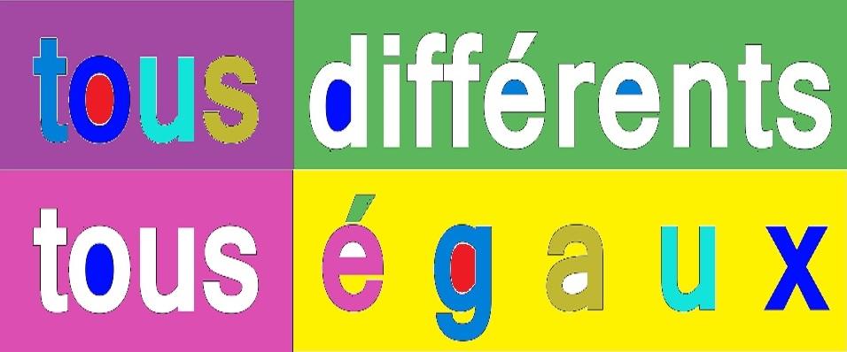 tous différent tous égaux multicolore