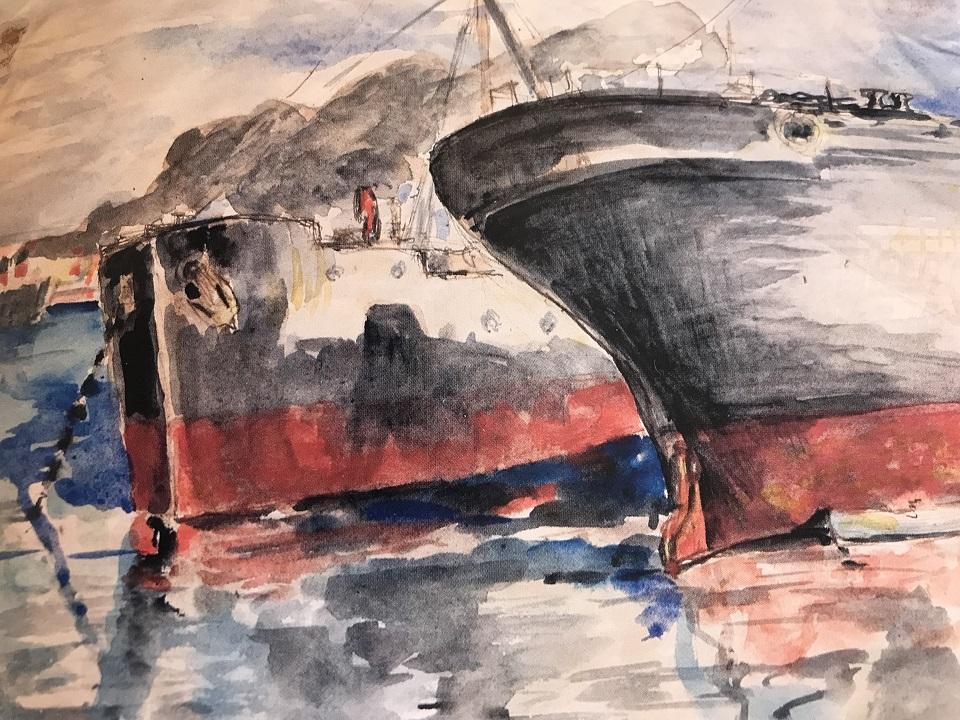 Cargos dans le port de Sète de Paul Valéry